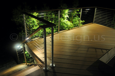 led deck railing