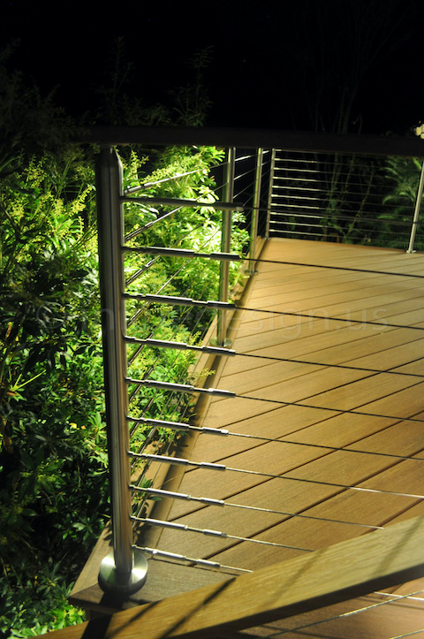 led wire railing