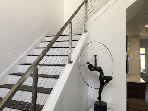side view stair railing