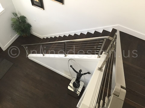 statue stair railing