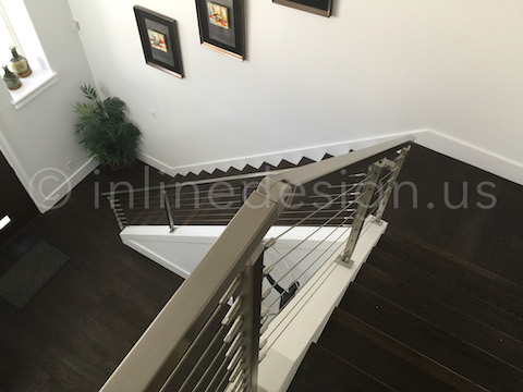 Iain uses Press & Latch Cable Railing on His Stair Railing ...