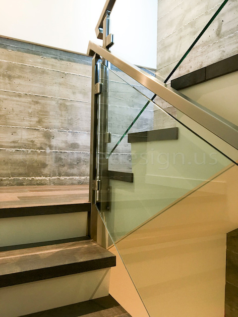 concrete modern stairs