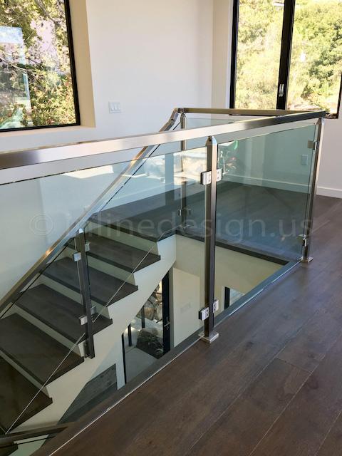 wood stee glass guardrail