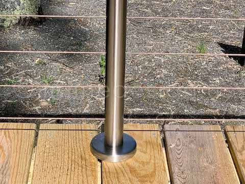 base cover cable railing
