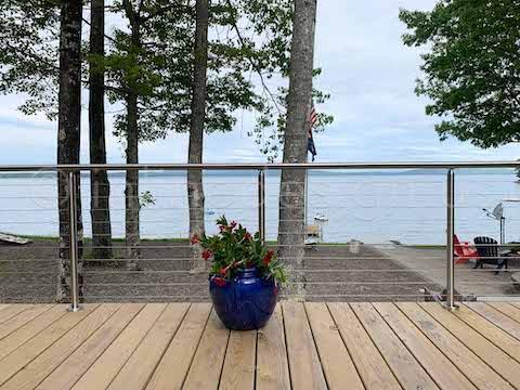 ocean view beautiful railing