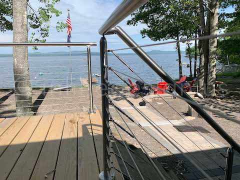 stair railing deck cable