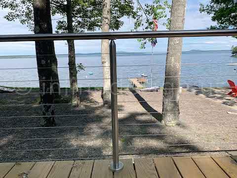 thru post cable railing