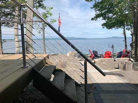 upper stair post railing
