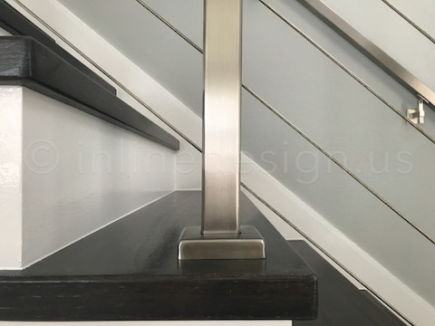 modern cable railing