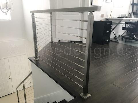 wood floor railing