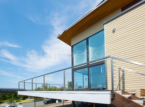 stainless steel back fascia cable railing