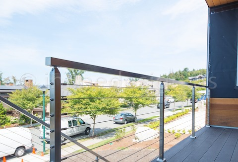 stainless steel side cable railing