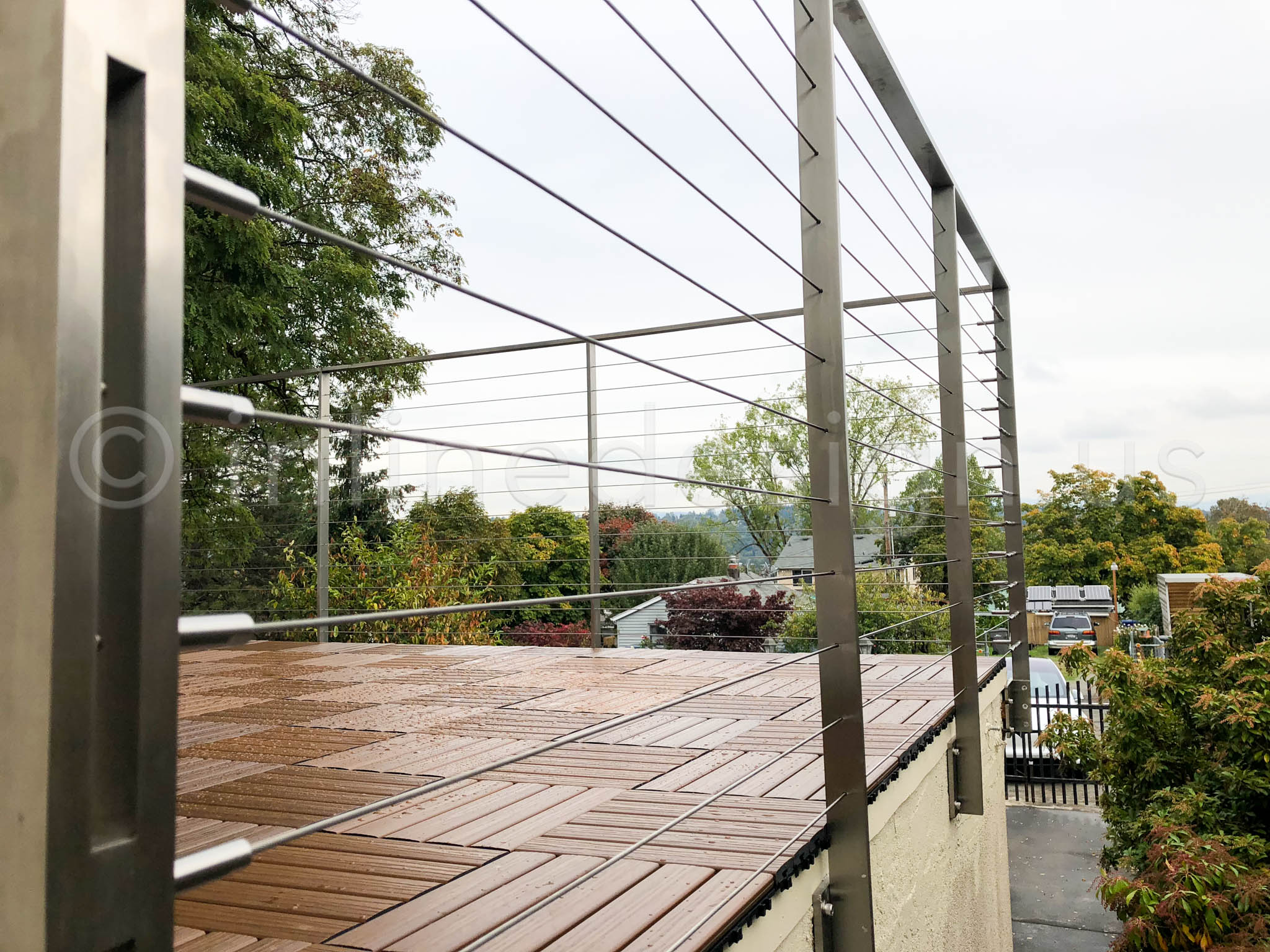 clean deck cable railing stainless steel