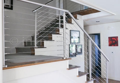 stainless steel miami round foyer stairs two