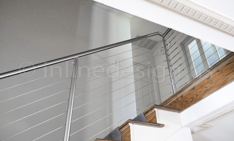 stainless steel miami round stairs middle post