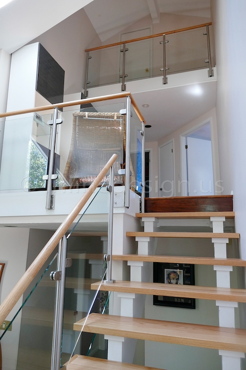 stainless steel glass balcony railing fascia side mounted