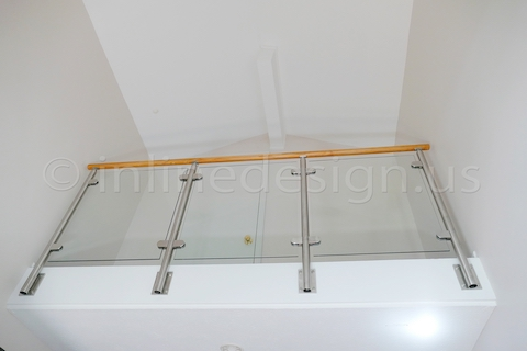 stainless steel glass clamp railing fascia side mounted