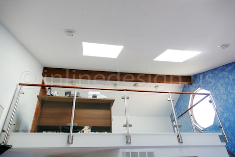 stainless steel glass sunny railing fascia side mounted