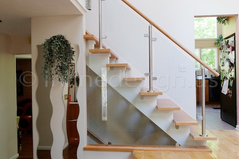 stainless steel up glass railing fascia side mounted