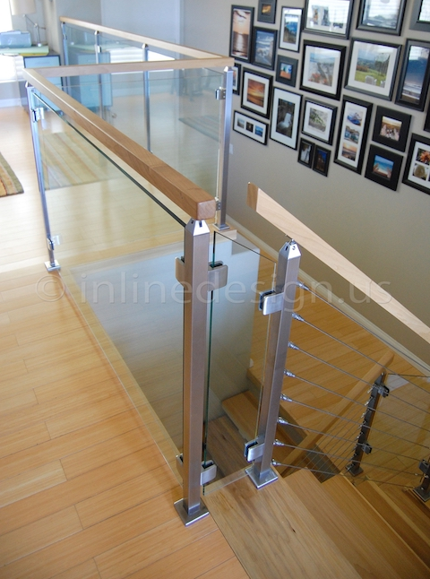 stainless steel cable railing glass clamp