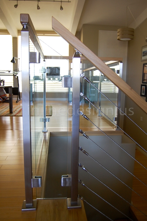 stainless steel cable railing windows