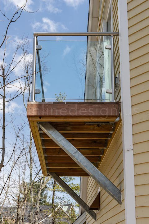 glass railing balcony