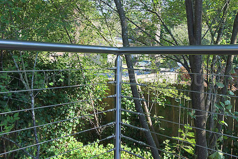 stainless steel deck cable railing fascia corner right