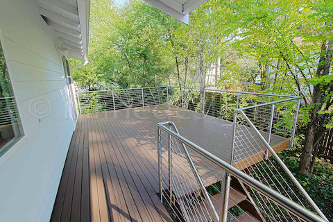 stainless steel deck cable railing fascia door
