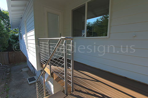 stainless steel deck cable railing fascia down