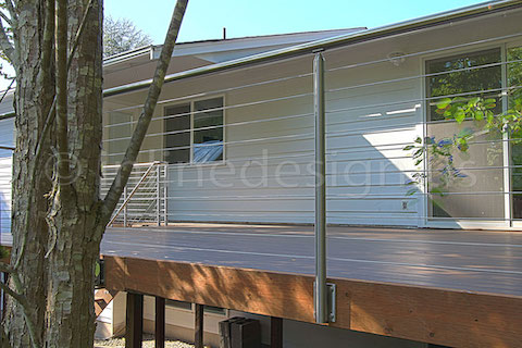 stainless steel deck cable railing fascia floor