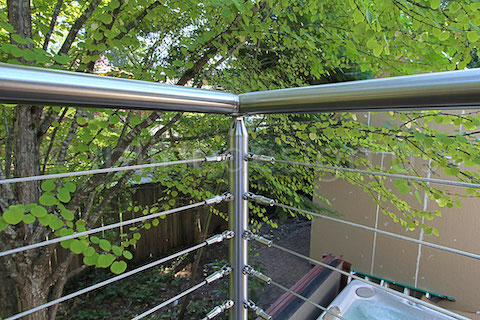 stainless steel deck cable railing fascia inside