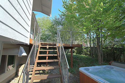 stainless steel deck cable railing fascia jacuzzi