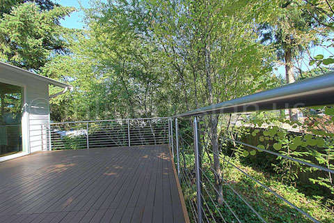 stainless steel deck cable railing fascia long