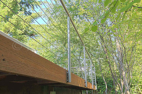 stainless steel deck cable railing fascia side