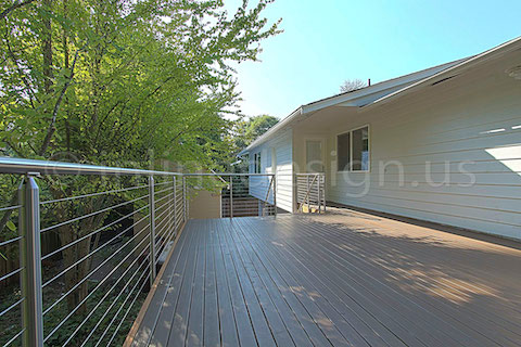 stainless steel deck cable railing fascia top