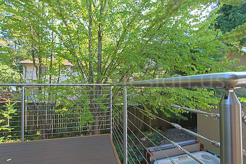 stainless steel deck cable railing fascia zoom