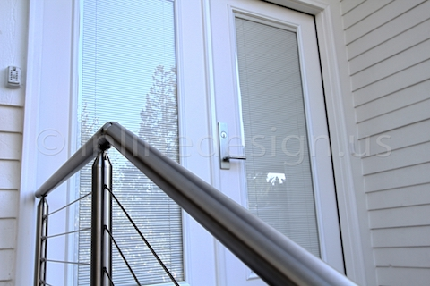 stainless steel cable railing front door left zoom