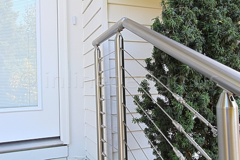 stainless steel cable railing front door right zoom