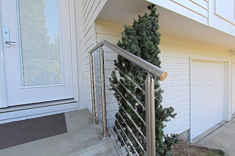 stainless steel cable railing front door right
