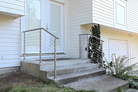 stainless steel cable railing front door round