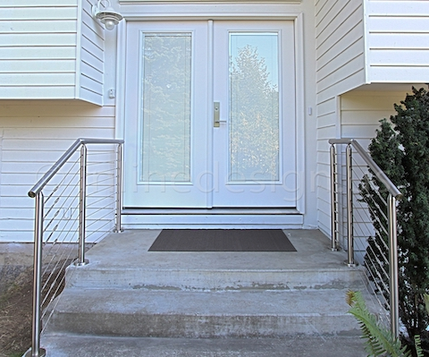 stainless steel cable railing front door