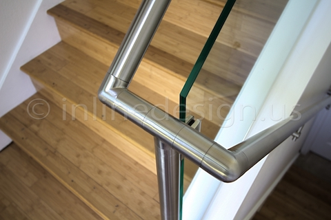 stainless steel glass railing handrail bracket