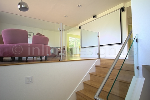 stainless steel glass railing modern