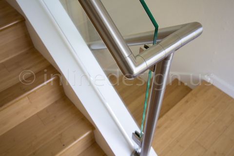 stainless steel handrail stairs