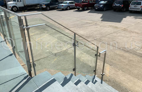 clamps railing stairs concrete