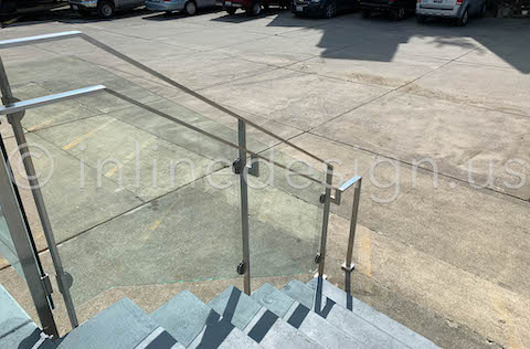 glass clamps railing stainless
