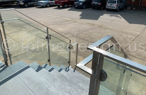 glass railing arcadia steel