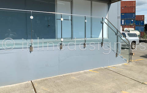 outdoor glass railing clamps
