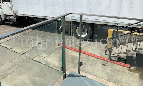 railing glass clamps arcadia