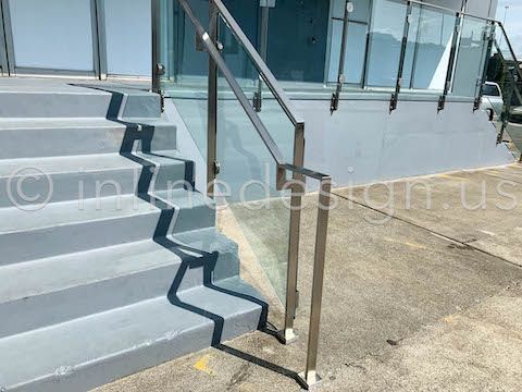 railing glass clamps exterior